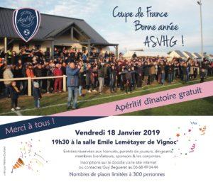Coupe de France, Bonne année, ASVHG ! @ Salle Emile Lemétayer