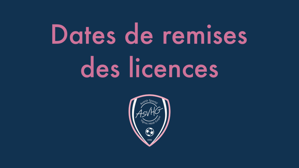 Remise dossiers licences ✉️