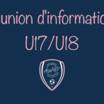 U17/U18 : Réunion 📝