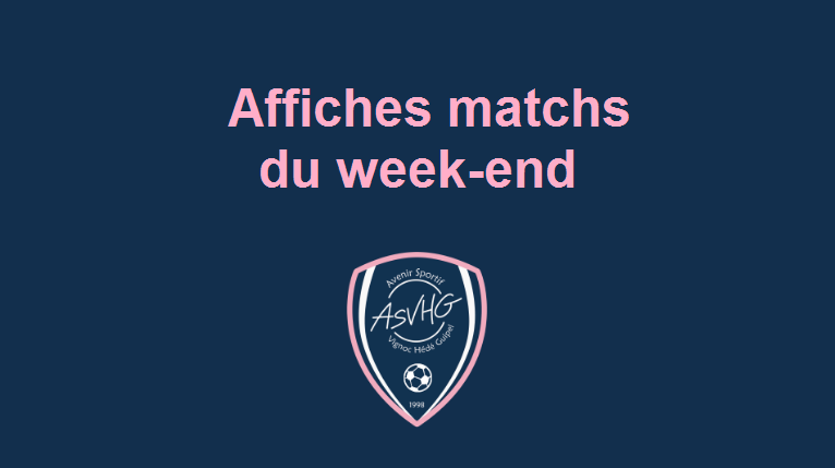 Affiches match du week-end